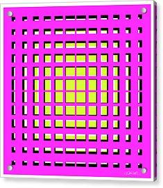 Pink Polynomial Acrylic Print