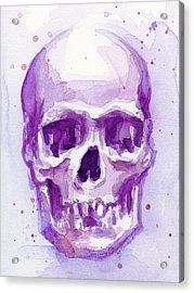 Pink Purple Skull Acrylic Print
