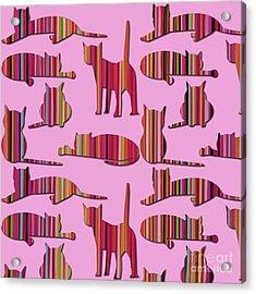 Pink Pussy Cat Acrylic Print