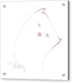 Acrylic Print featuring the mixed media Pink Pussycat by Larry Talley