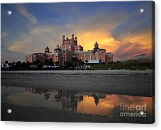 Pink Reflections Acrylic Print by David Lee Thompson