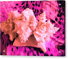 Pink Ribbon Donation Acrylic Print by Arlin Jules