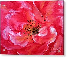 Acrylic Print featuring the painting Pink Rose by Sheron Petrie