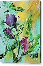 Pink Rosebuds Acrylic Print