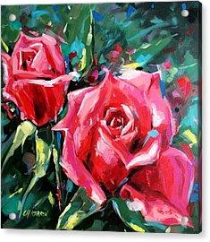 Pink Roses Acrylic Print by Christine Karron