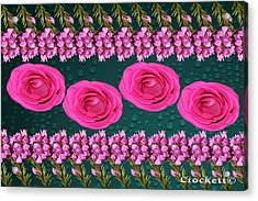 Pink Roses Floral Display Acrylic Print
