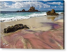 Pink Sand Beach In Big Sur Acrylic Print by Pierre Leclerc Photography