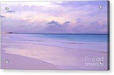 Pink Sand Purple Clouds Beach Acrylic Print