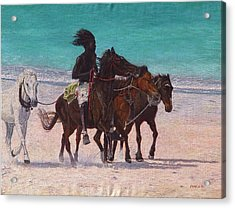 Pink Sand Rider Acrylic Print