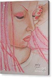 Pink Acrylic Print by Sandra Valentini
