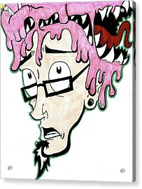 Acrylic Print featuring the drawing Pink Savage  by Iconic Images Art Gallery David Pucciarelli
