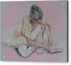 Pink Shoes Acrylic Print by Sandra Valentini