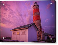 Pink Skies At Cape Moreton Lighthouse Acrylic Print