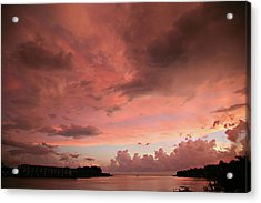 Pink Sky At Night Acrylic Print