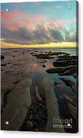 Pink Sky At Night Acrylic Print by Mike Dawson