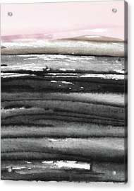 Acrylic Print featuring the mixed media Pink Sky Horizon- Art By Linda Woods by Linda Woods