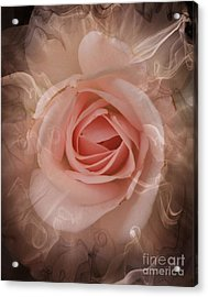 Pink Smokey Acrylic Print by Clare Bevan
