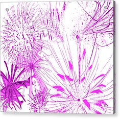 Pink Splash Watercolor Acrylic Print by Methune Hively
