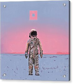 Acrylic Print featuring the painting Pink Square by Scott Listfield