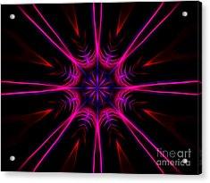 Pink Starburst Fractal  Acrylic Print