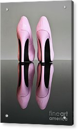 Pink Stilettos Acrylic Print by Terri Waters