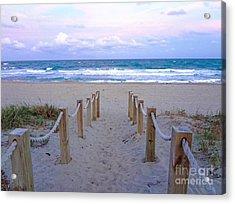 Pink Sunrise Beach Treasure Coast Florida C6 Acrylic Print