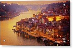 Pink Sunset In Porto Acrylic Print