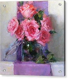 Pink Tease Acrylic Print by Chris  Saper