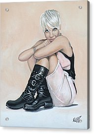 Pink Acrylic Print by Tom Carlton