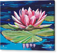Acrylic Print featuring the painting Pink Tranquility by Mary Scott