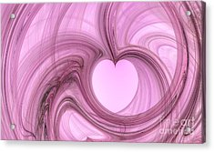 Pink Valentine Acrylic Print by YoursByShores Isabella Shores
