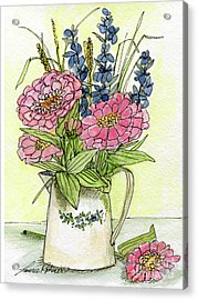 Pink Zinneas Acrylic Print