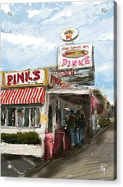 Pinks Acrylic Print by Russell Pierce