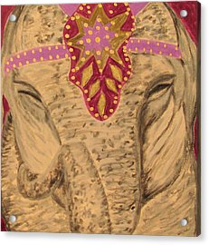 Acrylic Print featuring the drawing Pinky by Barbara Giordano