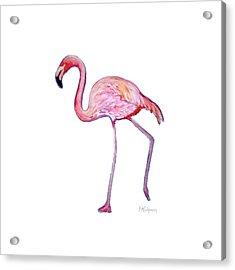 Pinky The Flamingo Acrylic Print