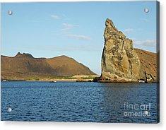 Pinnacle Rock From Sea Acrylic Print by Sami Sarkis