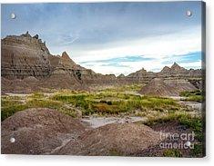 Pinnacles Of The Badlands Acrylic Print