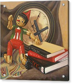 Acrylic Print featuring the painting Pinocchio by Donelli  DiMaria