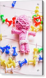 Pins And Needles Mummy Voodoo Doll Acrylic Print by Jorgo Photography - Wall Art Gallery