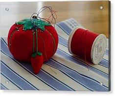 Pins Needles And Thread Acrylic Print