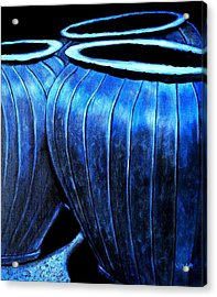 Pinstripe Pots Acrylic Print