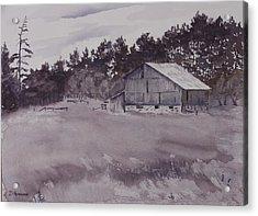 Pioneer Barn Acrylic Print by Debbie Homewood