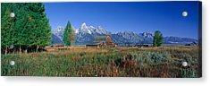 Pioneer Farm, Grand Teton National Acrylic Print by Panoramic Images