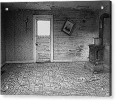 Pioneer Home Interior - Nevada City Ghost Town Montana Acrylic Print by Daniel Hagerman