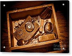 Pioneer Keepsake Box - Sepia Acrylic Print