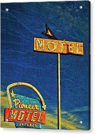 Pioneer Motel, Albuquerque, New Mexico Acrylic Print by Flying Z Photography by Zayne Diamond