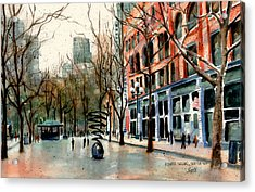 Acrylic Print featuring the painting Pioneer Square by Marti Green