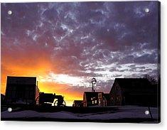 Pioneer Town Sunset Acrylic Print
