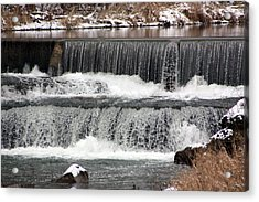 Pipe Creek Falls Acrylic Print by Bruce McEntyre