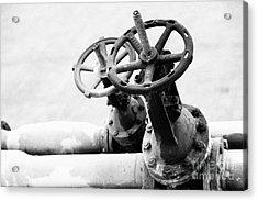 Pipeline Valves Acrylic Print